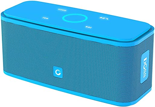 DOSS SoundBox Touch Portable Wireless Bluetooth Speakers with 9W HD Sound  and Bass, 9H Playtime, Handsfree, Speakers for Home, Outdoor, Travel-Blue