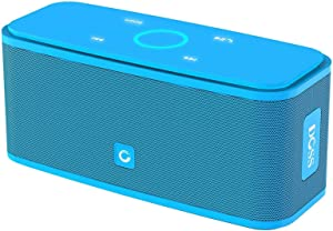 DOSS SoundBox Touch Portable Wireless Bluetooth Speakers with 12W HD Sound and Bass, 20H Playtime, Handsfree, Speakers for Home, Outdoor, Travel-Blue