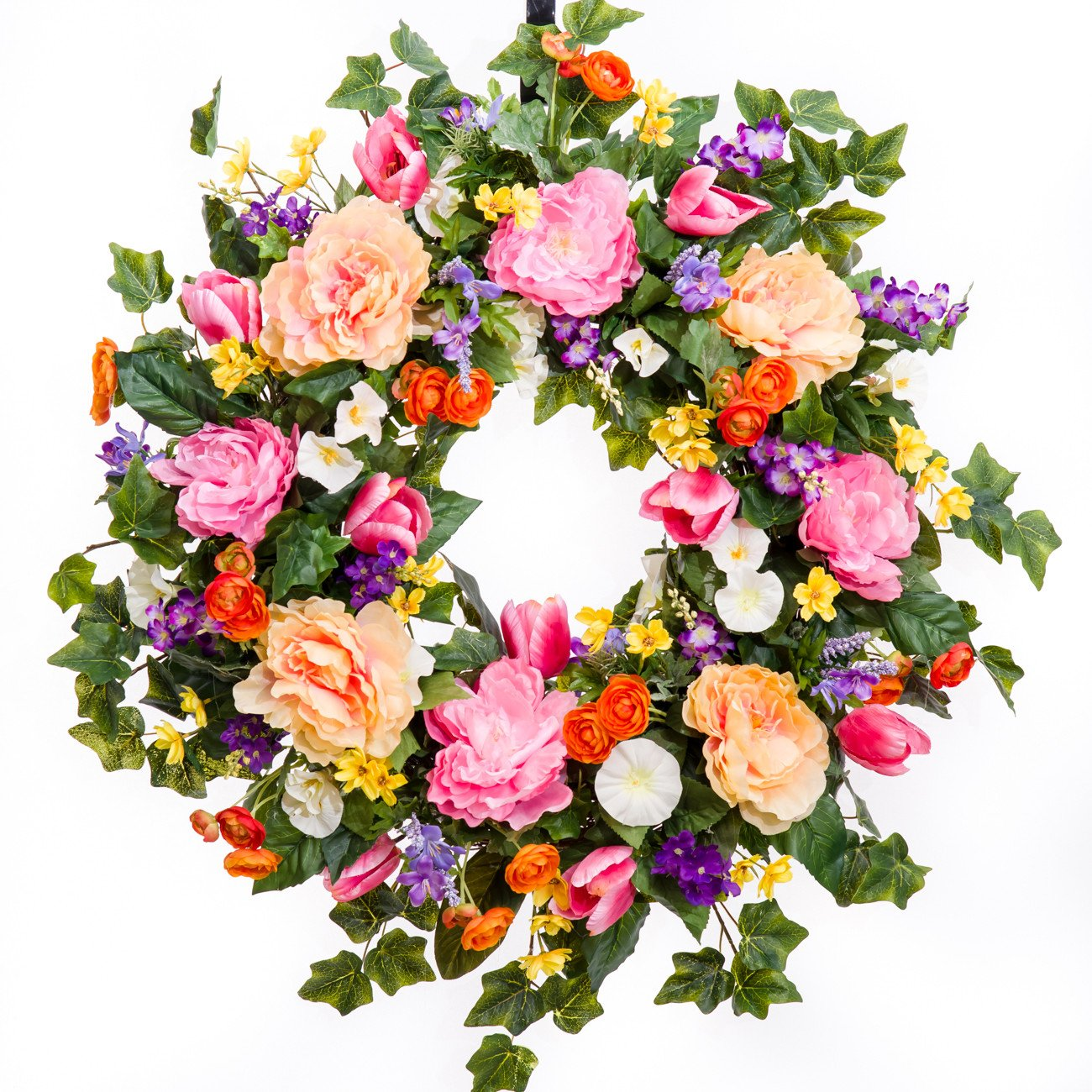 All Dressed Up Spring Wreath, Summer Wreath, Everyday Wreath, Silk Wreath (26 inch) by Darby Creek Trading