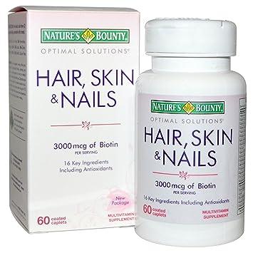 Conjunto Vitaminico Para Fortalecer El Cabello, Las Uñas Débiles y Mejoran La Calida De Su