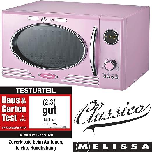 Melissa 16330103 Retro Microondas (900W, 25l) Pink Rosa: Amazon.es ...