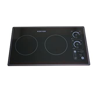 Kenyon B81331 SilKEN2 Induction Two Burner Portrait Trimline Cooktop, 240V, Black