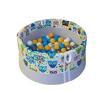 Tweepsy Bebé Niños Piscina de Bolas Suave 200 Bolas 90x40cm Hecho a Mano - Fabricado en la EU - BB1: Amazon.es: Juguetes y juegos