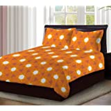 Bombay Dyeing Florentine 100% Cotton One Double Size Bedsheet with 2 Pillow Covers