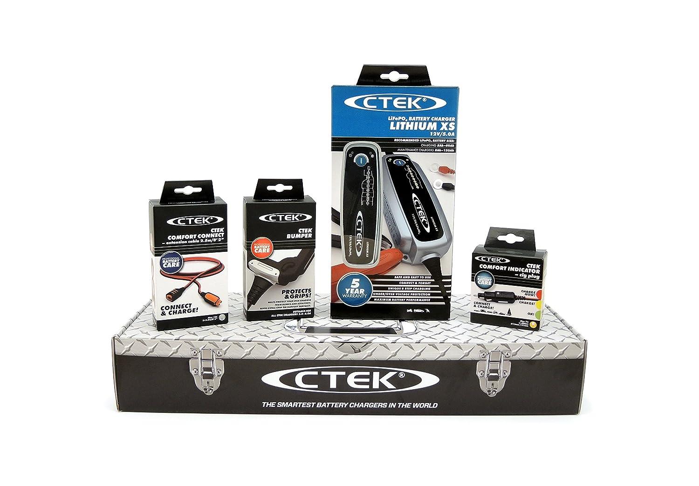 Cargador de bater/ía con accesorios 56-899 Toolbox Set CTEK LITHIUM XS