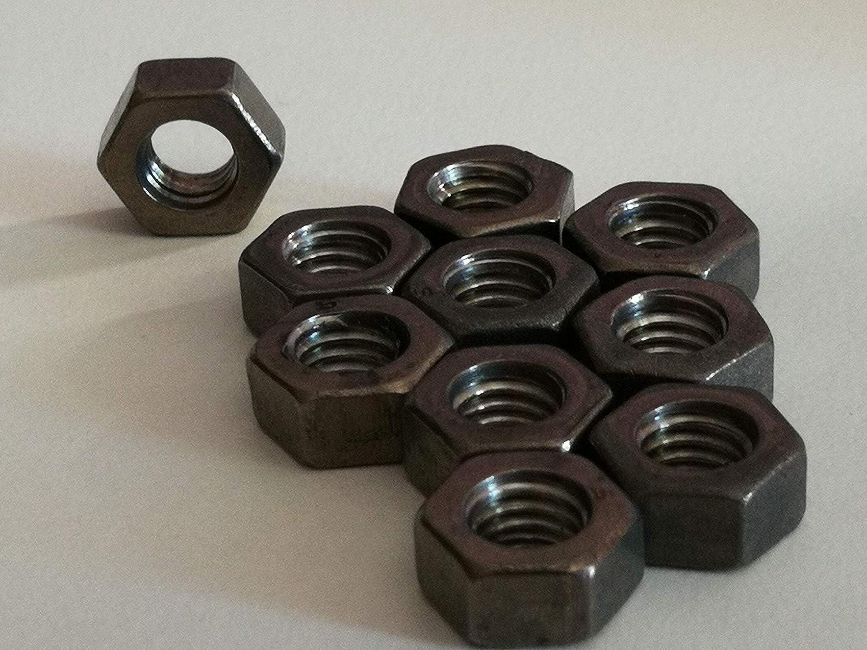 Titan Grade 2 DIN 934 10 St/ück M6 Titan Sechskantmuttern//Titan-Muttern Titan, M6
