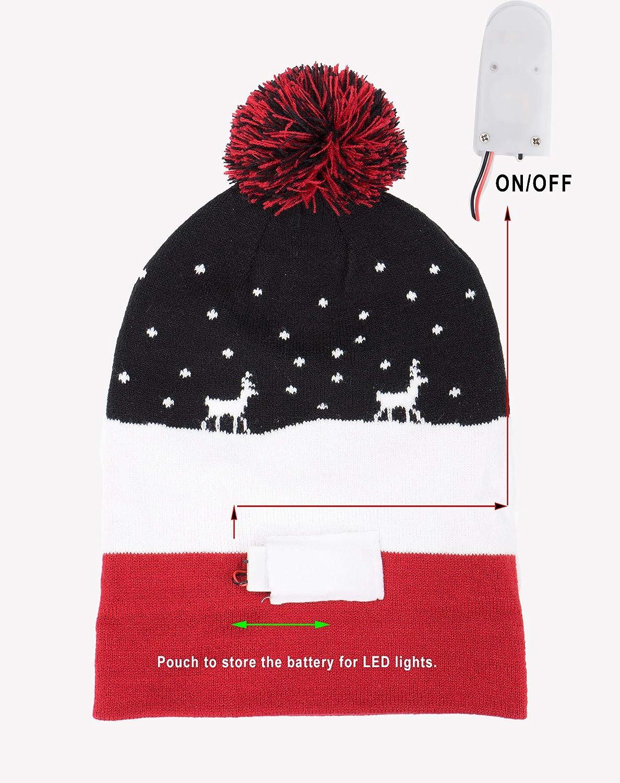 NOROZE Cappellino Invernale per Bambini con luci a LED