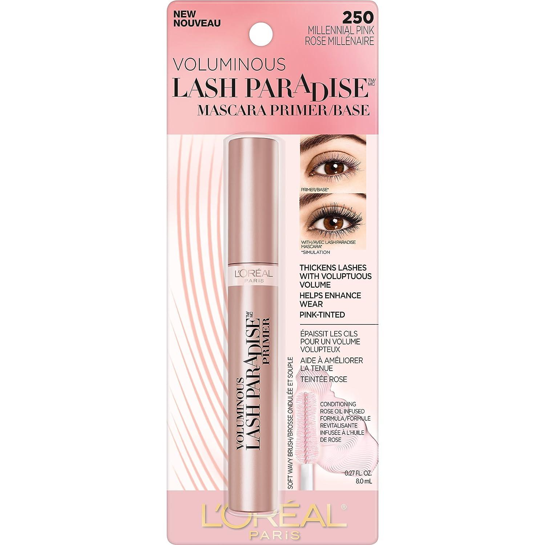 86b7073a61d Amazon.com : L'Oreal Paris Cosmetics Voluminous Lash Paradise Mascara Primer /Base, Millennial Pink, 0.27 Fluid Ounce : Beauty