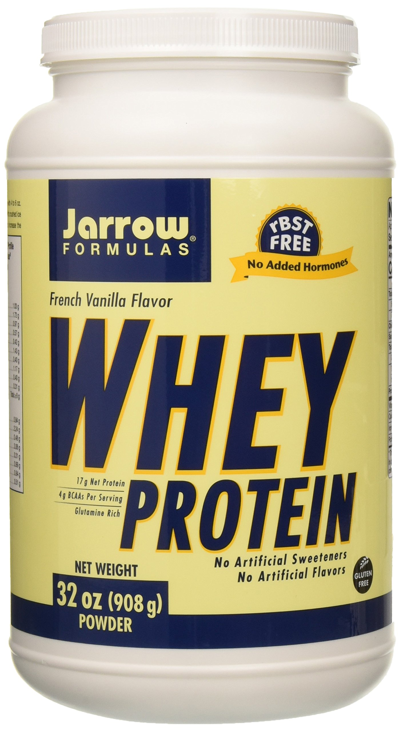 Jarrow formulas whey protein supports muscle development, french vanilla, 32 Ounce by Jarrow Formulas