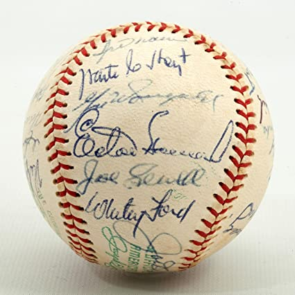0b7ab4a4f Mickey Mantle Joe Dimaggio Elston Howard 20s-50s Yankees HOF Signed ...