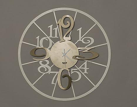 Orologio Da Parete Moderno Kalesy Arti E Mestieri Metallo Colore
