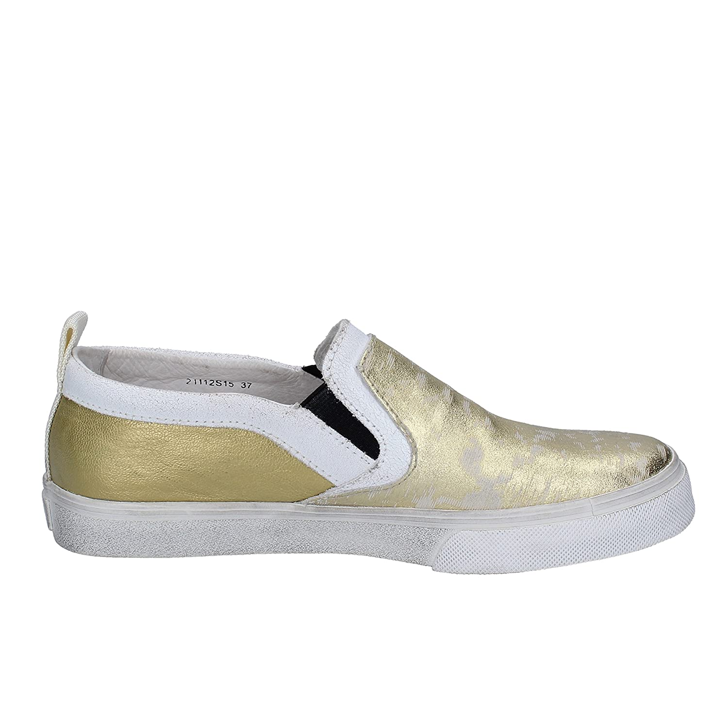 CRIME Loafers-Shoes Womens Leather Gold