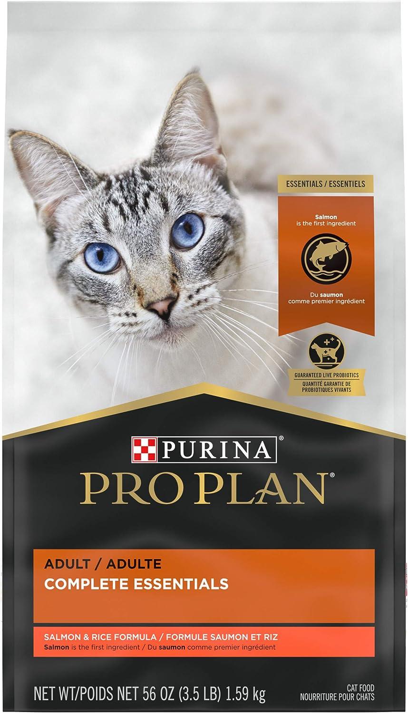 Purina Pro Plan With Probiotics, High Protein Dry Cat Food, Salmon & Rice Formula - 3.5 lb. Bag