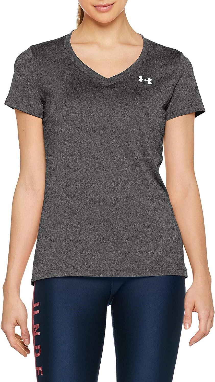 Under Armour Women's Tech V-Neck Short-Sleeve T-Shirt: Clothing