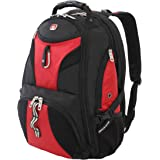 SWISSGEAR 1900 ScanSmart TSA Laptop Backpack- Red/Black
