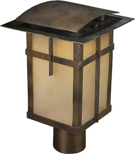 ELK 64013-1 San Fernando 1-Light Title 24 Compliant Led Outdoor Post Light in Hazelnut Bronze