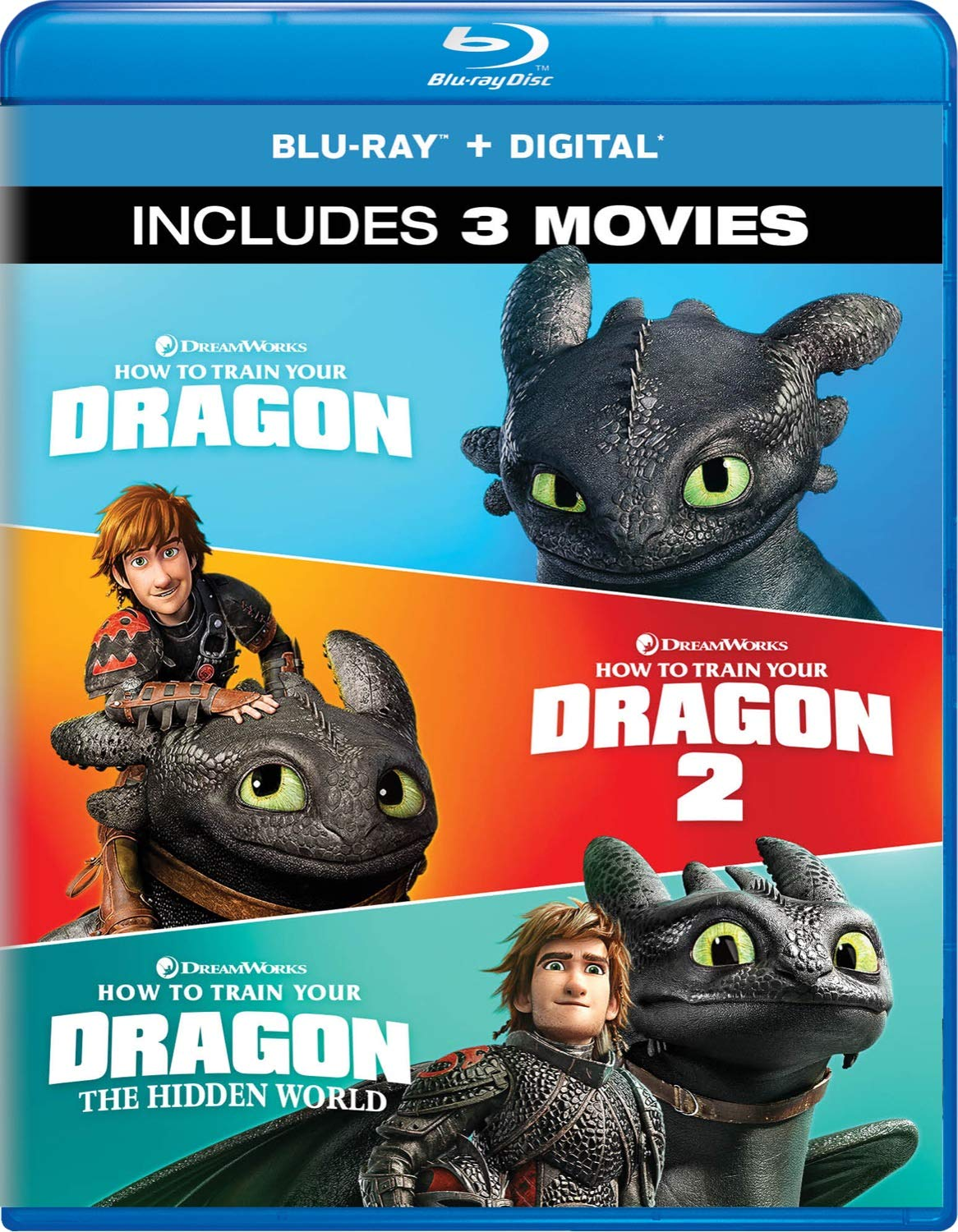 Amazon.com: How To Train Your Dragon: 3-Movie Collection [Blu-ray ...