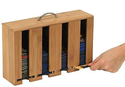 Kesper 50911 - Dispensador de bolsitas de té con 4 compartimentos, bambú, 30 x