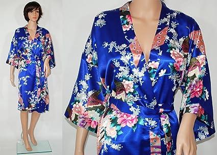 Kimono - Quimono de raso, Asiático, ropa interior, pijama, hombre o mujer