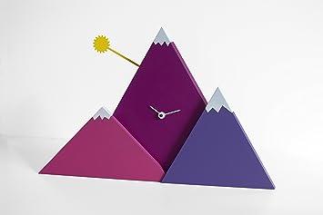 Set Da Scrivania Viola : Progetti sunset sunset orologio da tavolo viola designer
