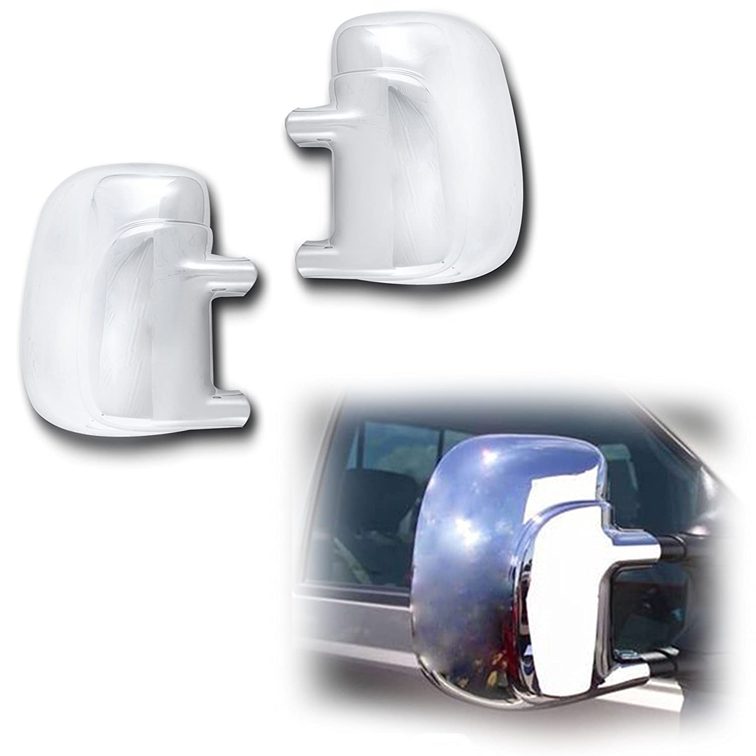 Triple Chrome 4 Door Handle Cover For 99-16 Ford Super Duty F250+F350+F450+F550