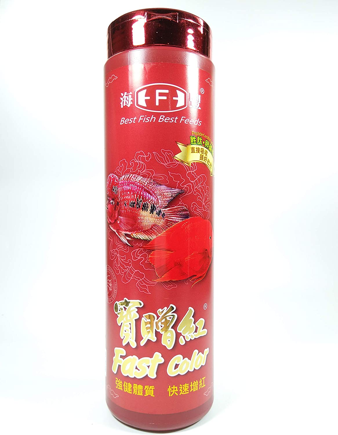 Hai Feng Fast Color Best Food Peptide Lecithin Added Floating N.W.235g for Red Parrot, Cichlid, Discus & Tropical Fish, Small