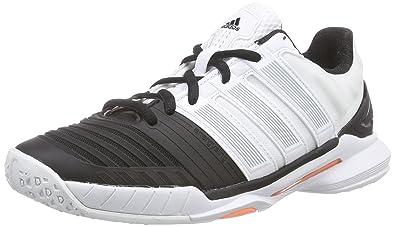 Adidas Adipower Stabil Pallamano Scarpe Signore Bianco Dimensioni: Regno Unito