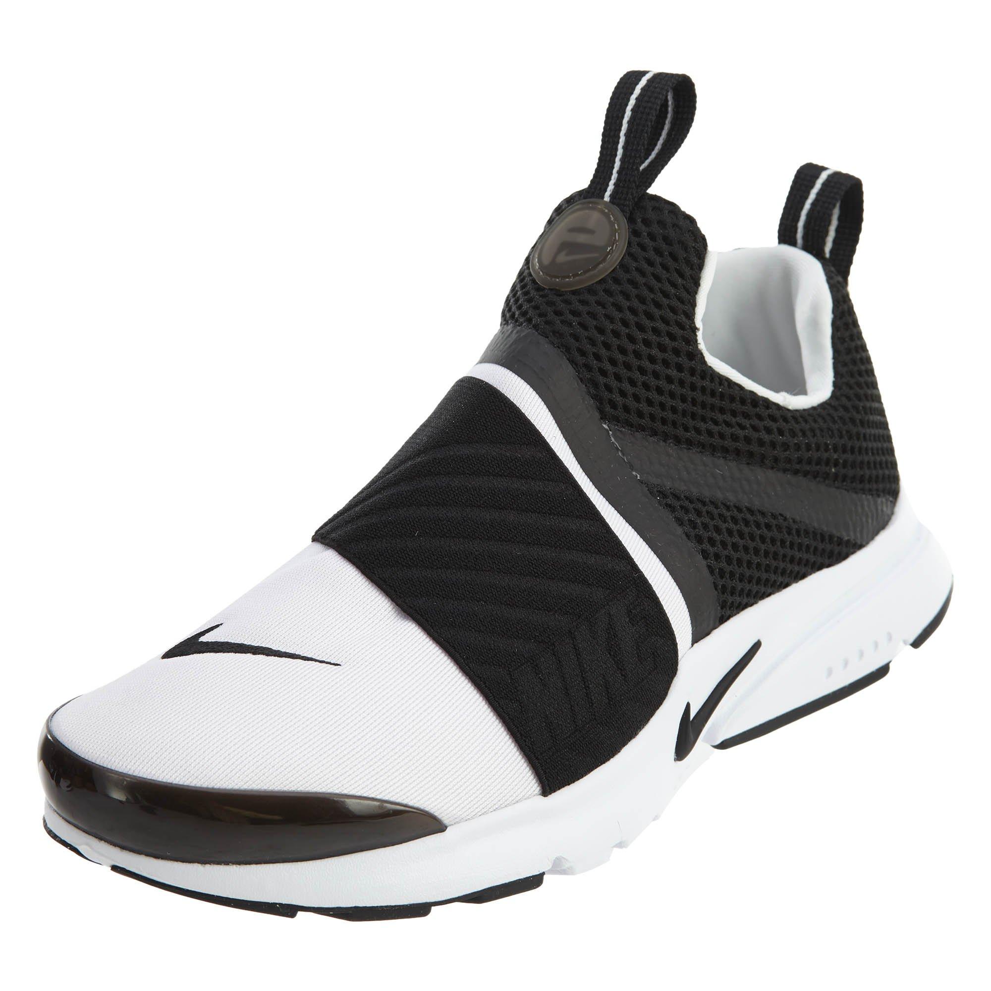 Nike Kids Presto Extreme Running Shoe (4) White/Black