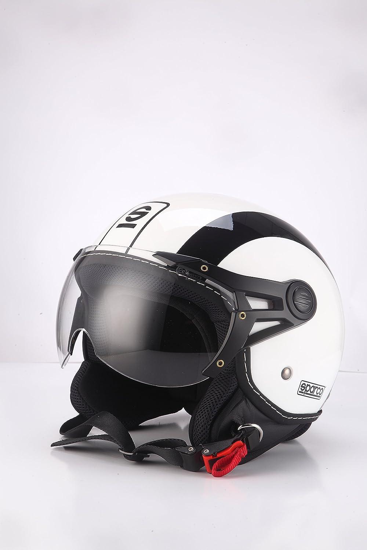 talla L Sparco Riders Casco Moto Demi Jet blanco//negro