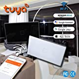Smart WiFi Switch Light Wall Touch Remote Control Programmable TUYA Smartphone Android 4.1 iOS 8.0 Above Works with Amazon Alexa Google Assitant NEW DESIGN GLASS PANEL by NaamaSmart 1/2/3 Gang Black