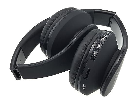 Auriculares de diadema Bluetooth Inalámbricos, Hisonic Auriculares con micrófono Auriculares Bluetooth de Diadema Plegable con Tarjeta TF compatible con ...