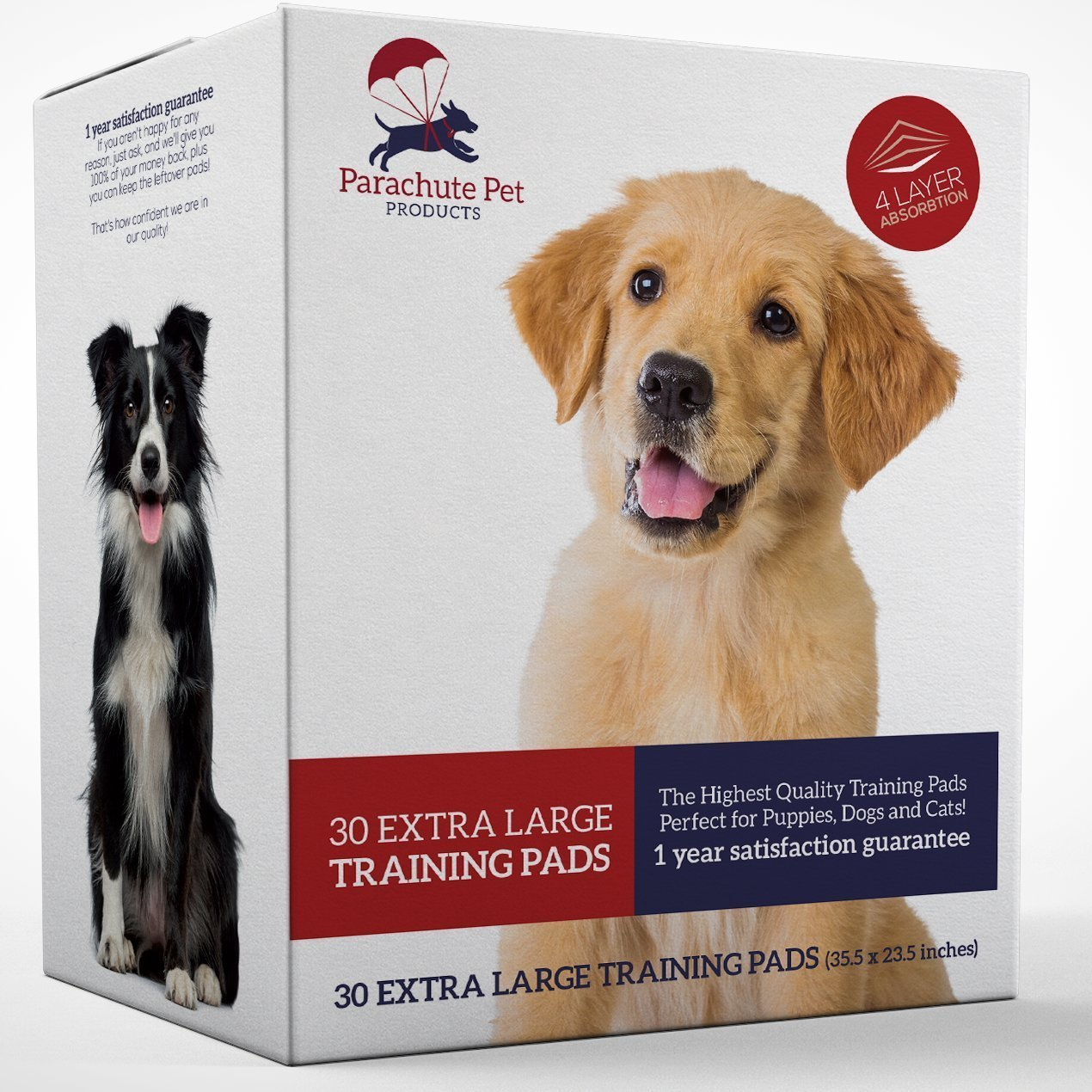 Parachute Pet Products Dog Training Pads Extra Large (XL) 30-Pack