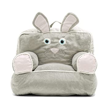 Fabulous Big Joe 0887674 Bagimal Throne Chairs Bunny Cozy Plush One Size Gray Pink Gamerscity Chair Design For Home Gamerscityorg
