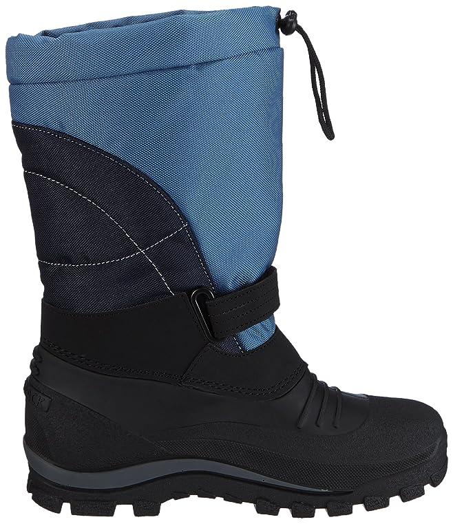 SASCHA - botas de nieve cn forro y caña corta de material sintético Unisex adulto, color azul, talla 35 EU (2.5 Erwachsene UK) Spirale