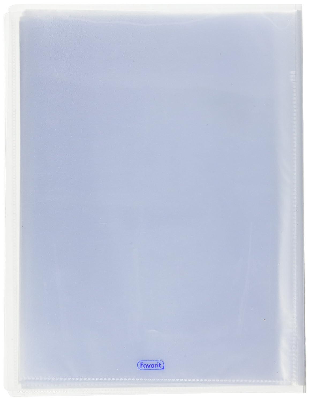 Trasparente Favorit 100460330 Portalistino Personalizzabile con 70 Buste Formato Interno 22X30 cm Copertina con Tasca