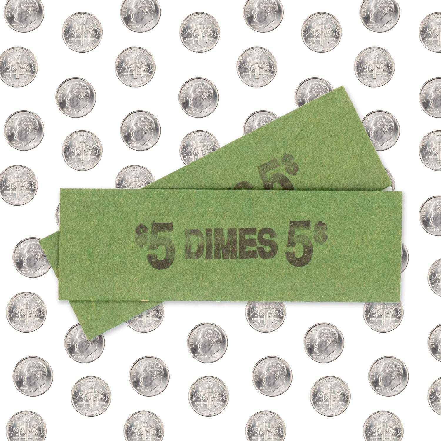 Solid Bundle of 100 Dime Flat Coin Wrappers