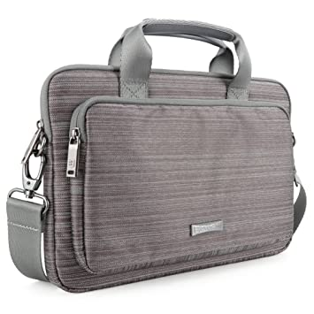 Evecase Maletín para Portátil Ultrabook Notebook iPad Tablet hasta 11,6 pulgadas, Color gris: Amazon.es: Informática