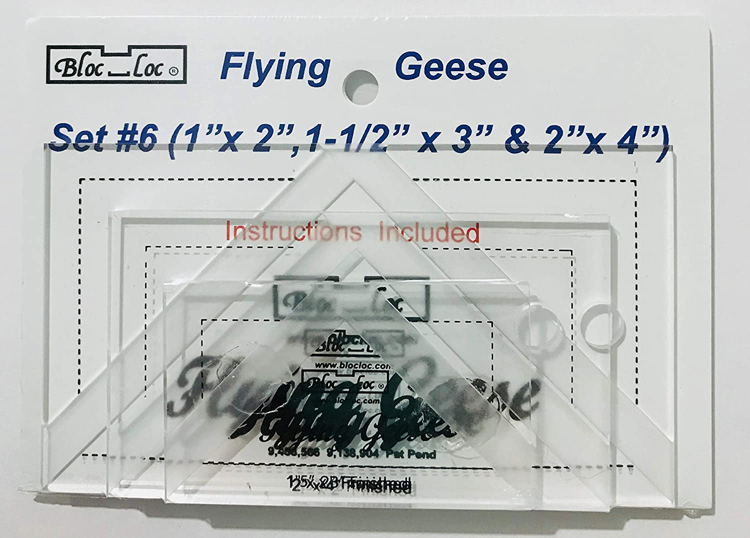 Bloc Loc Flying Geese Set #6 Acrylic rulers