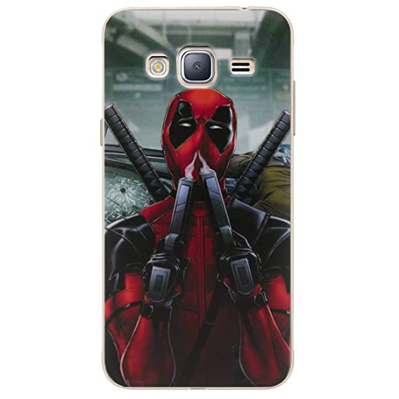 Etui housse coque Deadpool swag Samsung Galaxy J3 2016