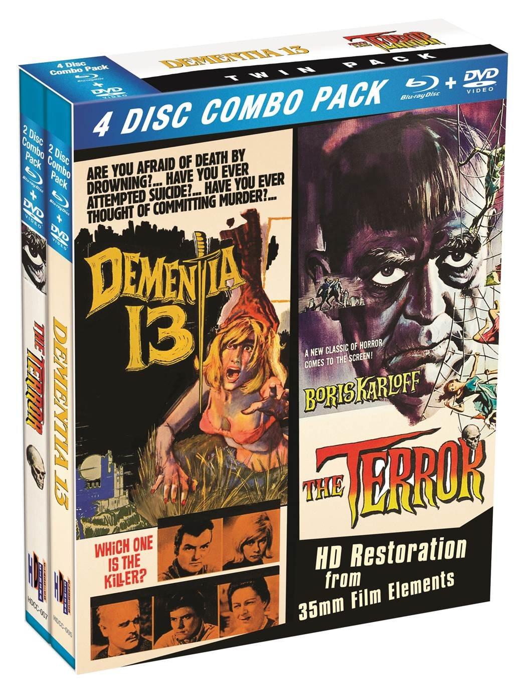 Blu-ray : The Terror / Dementia 13 (Boxed Set, 4PC)