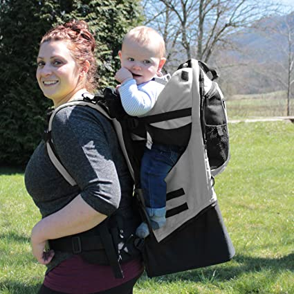 41f403796fd Amazon.com  Gorilla Carriers - Gray Baby Carrier Backpack  Sports ...