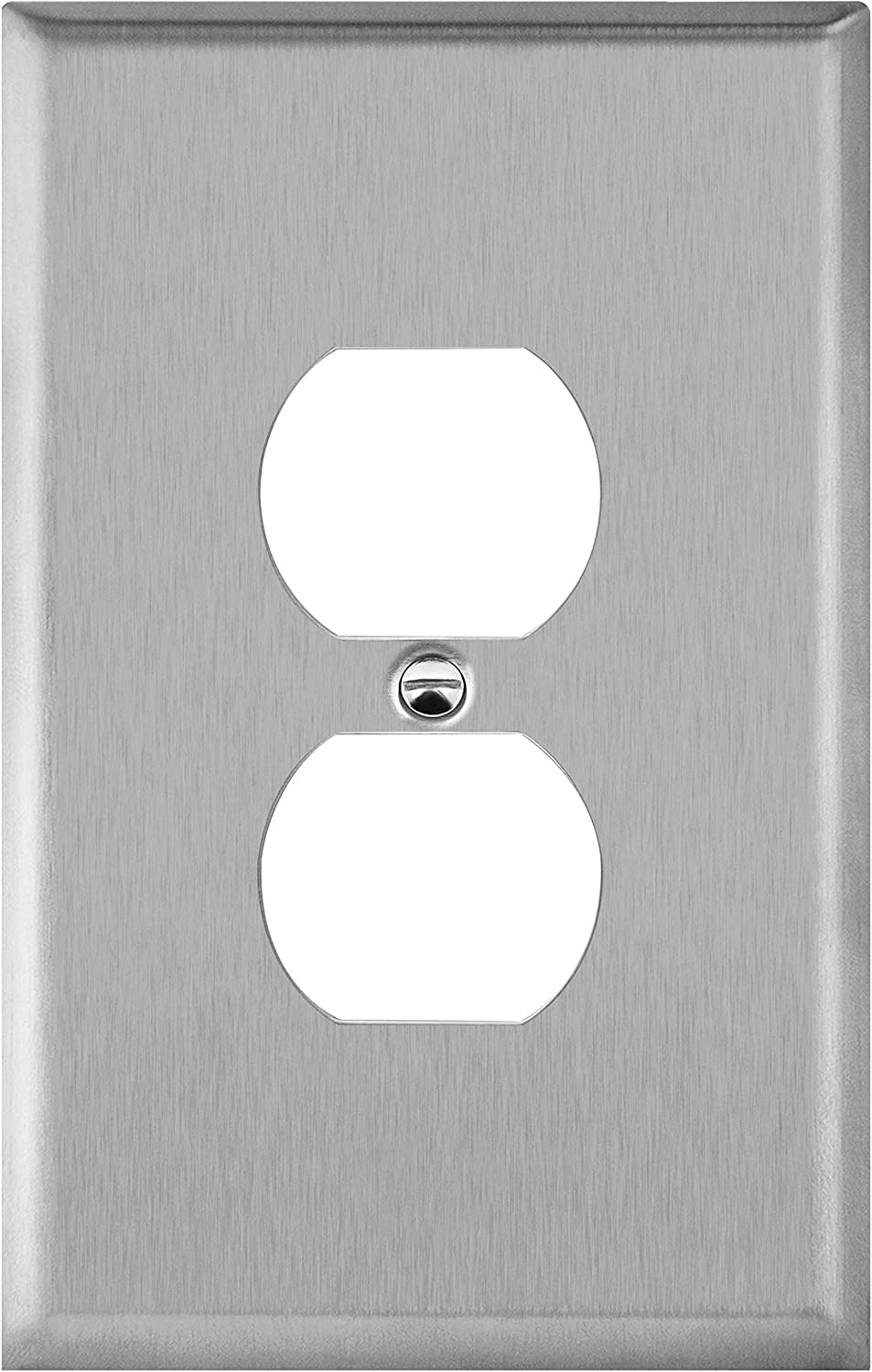 ENERLITES Duplex Receptacle Jumbo Metal Wall Plate, Stainless Steel Outlet Cover, Corrosion Resistant, Over Size 1-Gang 5.5