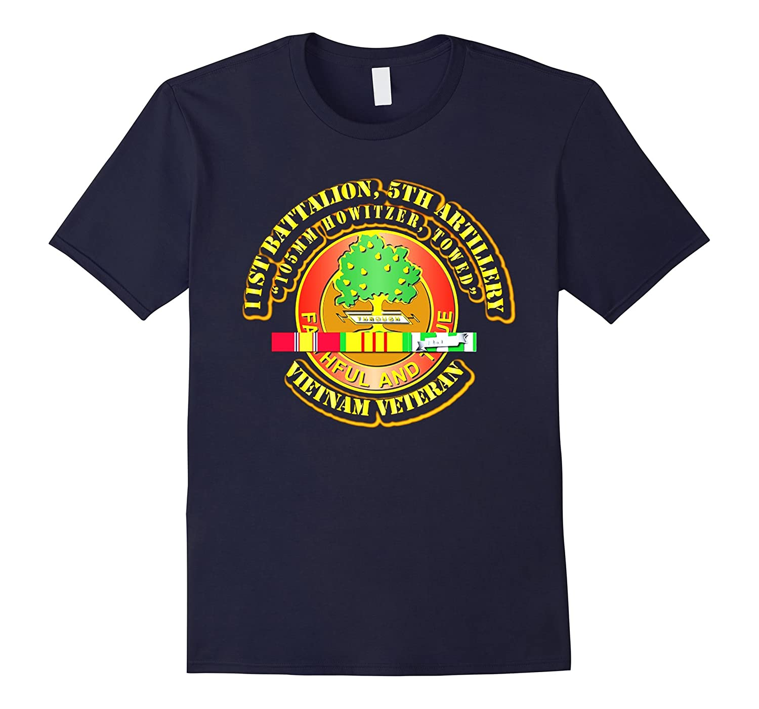 1st Battalion, 5th Artillery (105mm Howitzer, Towed) Tshirt-RT