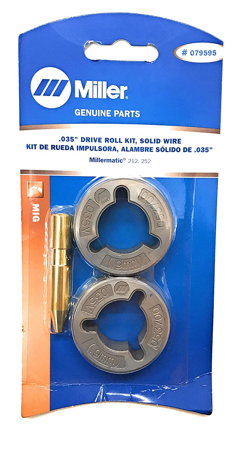 Miller Genuine .035' Drive Roll Kit for Millermatic 212, 252 - Qty 1 - 079595