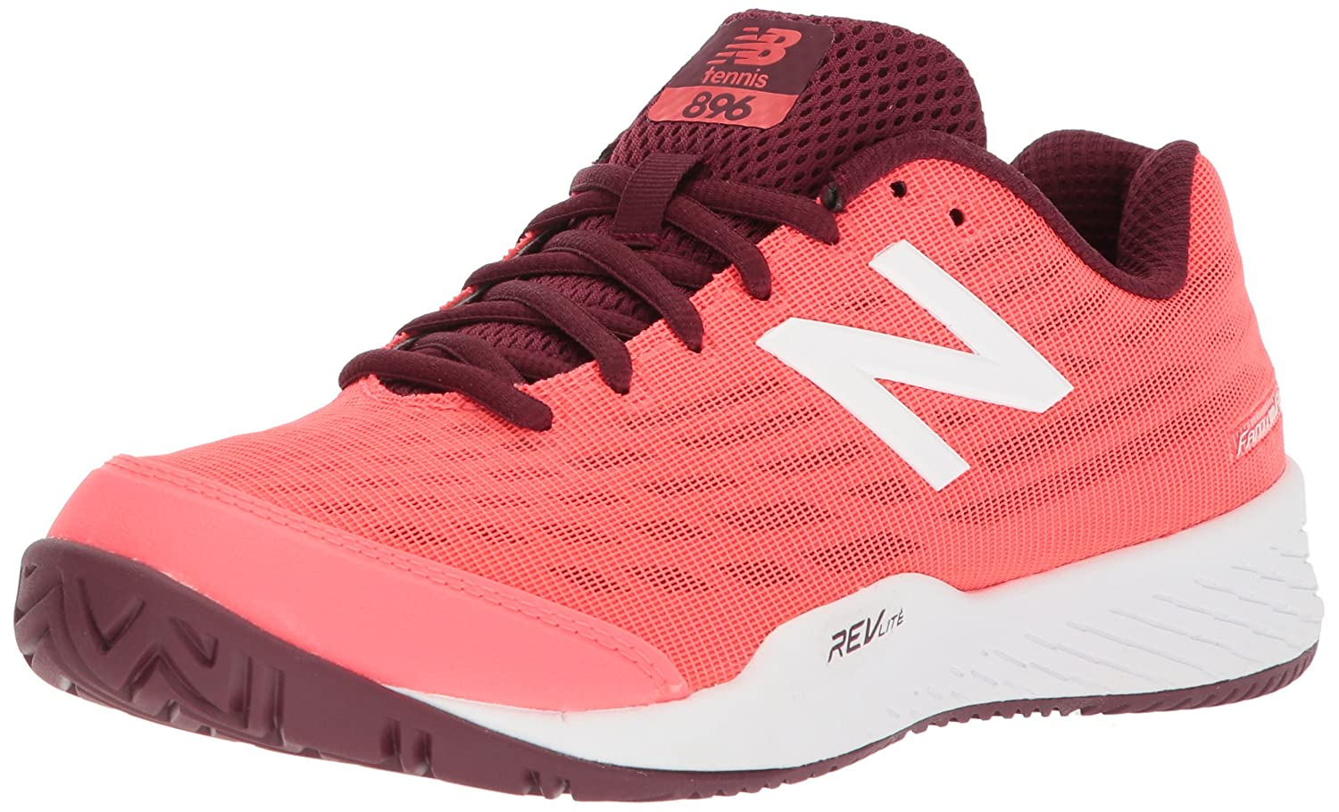 New Balance Women's 896v2 Hard Court Tennis Shoe B06XSFM344 75 D US|Vivid Coral/Vivid Coral