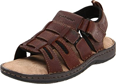 Tortor 1Bacha Kid Boys Leather Two Tone Outdoor Fisherman Sandal