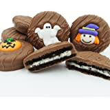 Philadelphia Candies Milk Chocolate Covered OREO Cookies, Halloween Assortment (Cute Witch, Ghost, Pumpkin) 8 Ounce