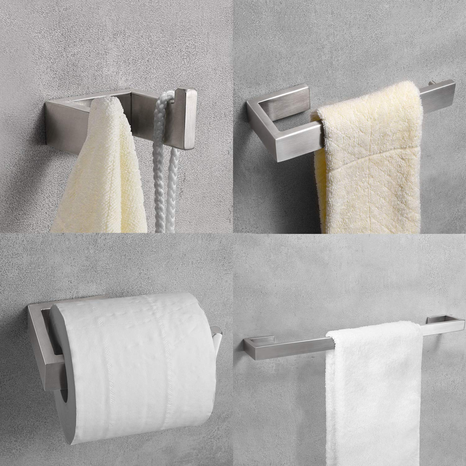 Nolimas SUS304 Stainless Steel Toilet Paper Roll Holder Wall Mounted Bathroom Hardware Rust Proof Toilet Tissue Holder,Nickel Brushed