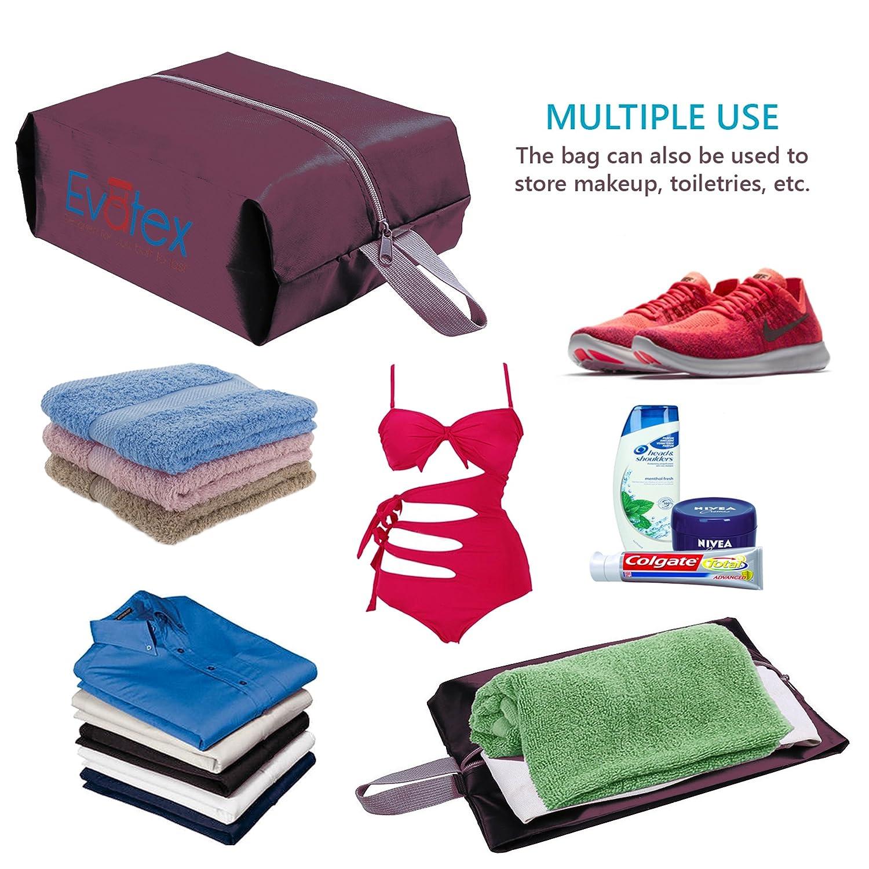 b7ae21e43d60 Evatex Packing Cubes Shoe Bag - 5 psc Set Travel Organizer ...