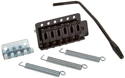 1pc alta calidad negro puente Tremolo para Strat Guitarra eléctrica Set repuesto